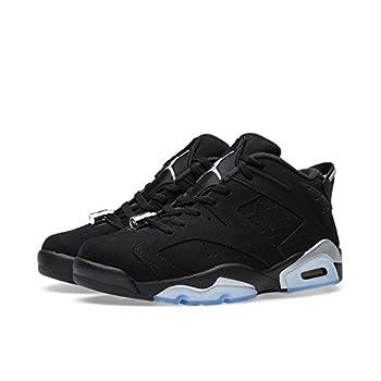 Nike Air Jordan 6 Retro Low BG Black/White/Silver 768881-003  Size  6Y