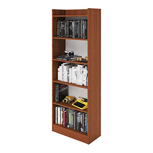 WEBMARKETPOINT Mobile Libreria Noce Antico in Legno Nobilitato 6 Ripiani H180x64x29 Cm