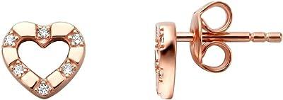 Esprit - Orecchini a perno in acciaio INOX con zirconi