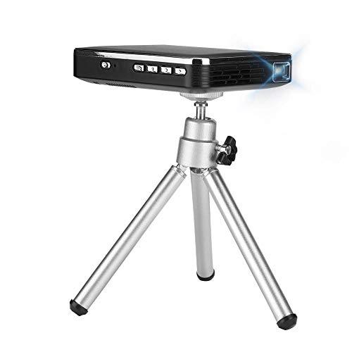 Mini proyector portátil, Proyector de video inalámbrico / con cable 4K 2000 lúmenes Proyector bolsillo Compatión teléfono móvil X3 Compatibilidad entrada HDMI para Android para iOS(Enchufe de la UE)