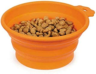 Guardian Gear Portable Dog Bowl Bend-A-Bowls Collapsible Food and Water for Dogs Traveling (Small - 12 Ounce Carrot)