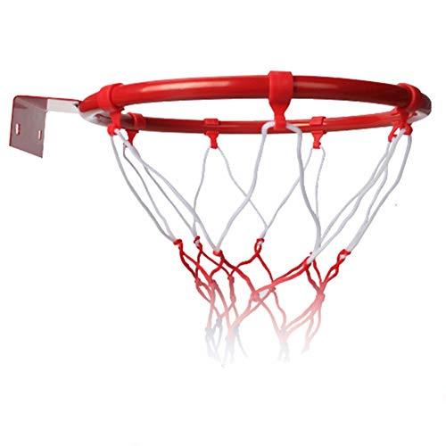 jeerbly Red de baloncesto para colgar en interiores y exteriores con borde de baloncesto montado en el aro de la portería de la red de deportes
