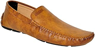 Lee Fox Pure Leather Tan Casual Loafer