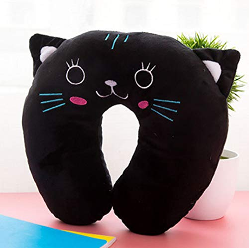 DENGLEI Pillow Cartoon U-Shaped Neck Cervical Nap Cute Airplane Travel Panda Pig Tiger Black Cat Cute Shape E