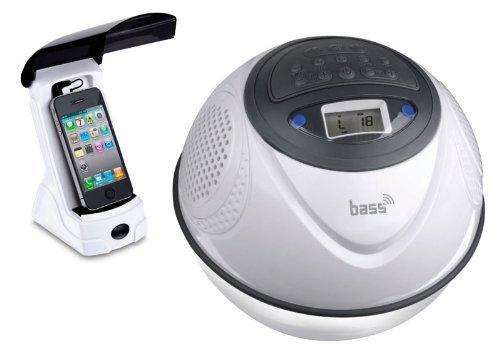 Steinbach Soundsystem bass Ball, MP3/FM Radio/USB/SD Card, schwimmendes, wasserdicht IPX7, Weiß, 1,50 kg