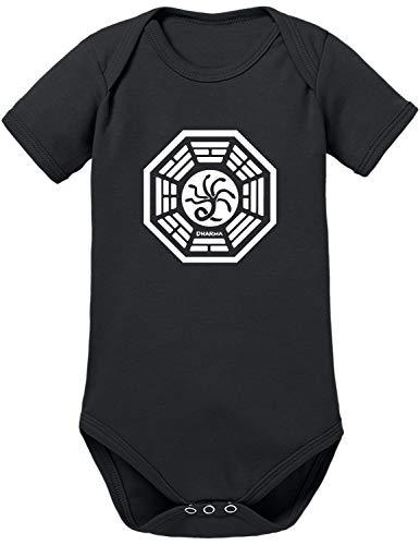 TShirt-People Dharma Lost The Hydra Logo Baby Body 80 Schwarz