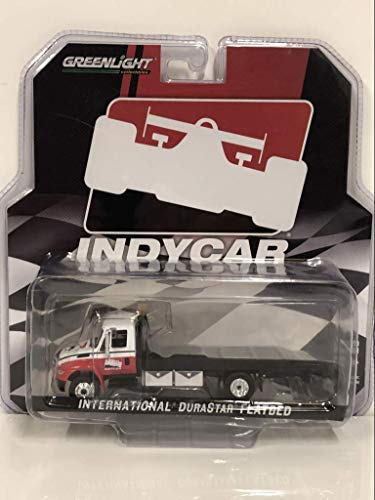 Greenlight International Durastar Flatbed Truck White And Red IndyCar Series Hobby Exclusive 1/64 Diecast Model by