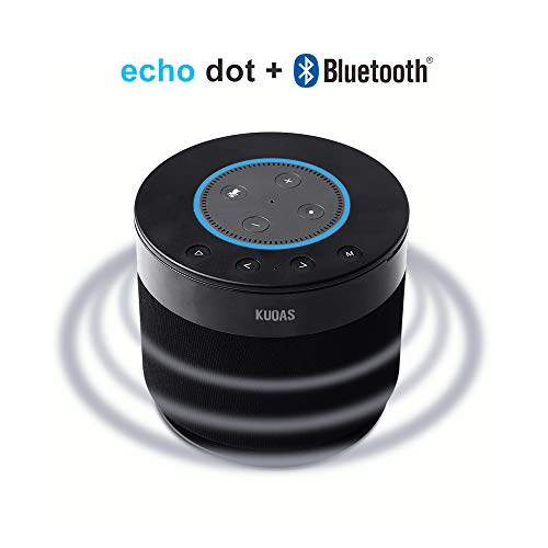 Speaker for Amazon Echo Dot 2nd Generation Cordless Alexa Speaker with Battery Base,Rechargeable Docking Speaker, Powerful Sound, Portability,Plug and Play,Echo Dot Sold Separately (KUOAS)