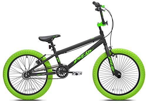 Offer an Amazingly Smooth,Stylish Ride for Kids with Sense of Adventure with Kent 20' Boys',Dread BMX Bicycle,Green,for Ages 8-12,Exciting Gift Idea for Their Amazing Tricks