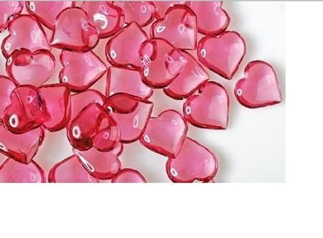 Valentine's Day Gifts & Decorations (Heart-Shaped Plastic Gems) Acrylic Hearts for Vase Fillers, Table Scatter, or Decoration PINK