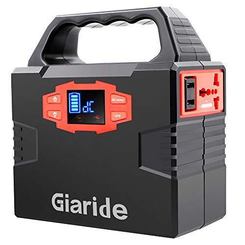 GIARIDE 150Wh Solar Battery Solar Power Generator Power Generator 220V Ac 12V Dc And Usb Output Portable Solar Inverter Charged By Solar Panel  Power Socket  Auto 40Ah Lithium Polymer Batt
