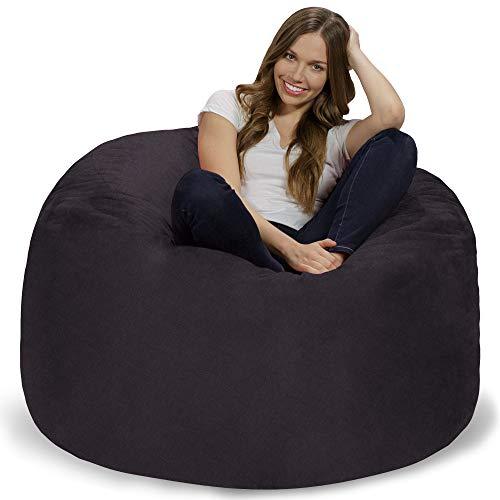 Chill Sack Bean Bag Chair: Giant 4' Memory Foam Furniture Bean Bag - Big Sofa