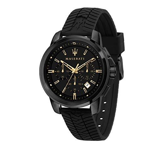 Maserati Orologio da uomo, Collezione Successo, in Acciaio, Silicone, con cinturino in Silicone - R8871621011