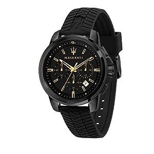 Maserati Reloj para Hombre, Colección Successo, en Acero Inoxidable, Silicona,
