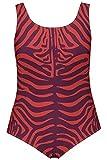 ULLA POPKEN Badeanzug Crazy Zebra Costume Intero, Colore: Rosa, 58 Donna