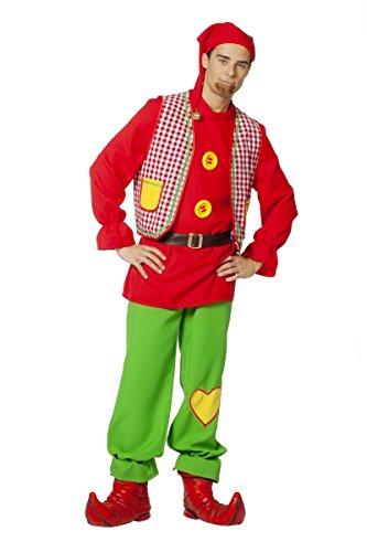 Herren Kostüm Märchen Zwerg Gartenzwerg Karneval Fasching Gr.58