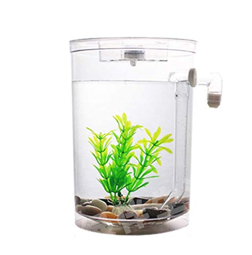 Klein aquarium, Desktop Mini Fish Tank Gratis water verversen Klein aquarium Zelfreinigende plastic creatieve ecologie