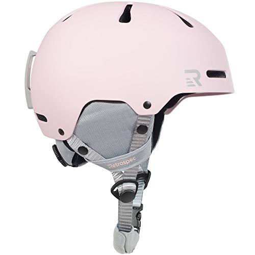Retrospec Traverse H3 Adult Ski & Snowboard Helmet with 10 vents; Matte Pink,...