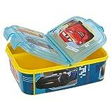 Cars Kinder Premium Brotdose Lunchbox Frühstücks-Box Vesper-Dose mit 3 Fächern BPA-FREI'