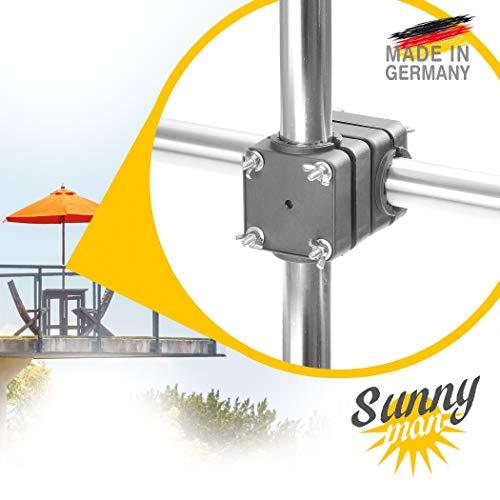 Sonnenschirmhalter Balkonschirmhalter  Balkonklammer für Geländer und Balkon