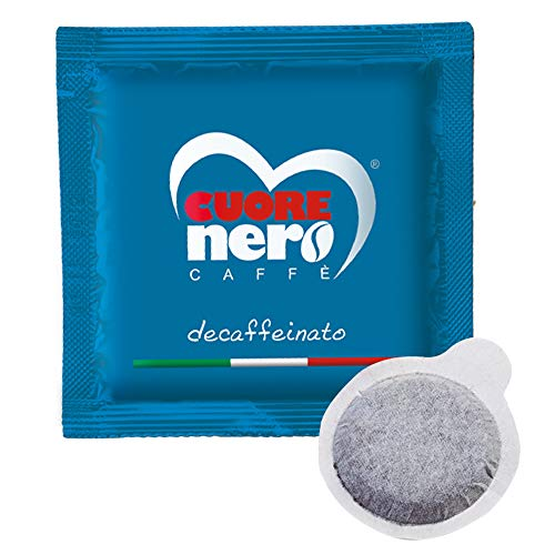 Cuore Nero Caffè 150 Cialde Decaffeinato ESE44 Filtro Carta 44mm