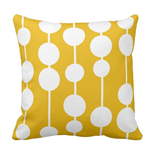 antoipyns Throw Pillow Cover Kids MID Century Modern Yellow Room Decorative Pillow CASE Home Decor Square 18 X 18 INCH Pillowcase