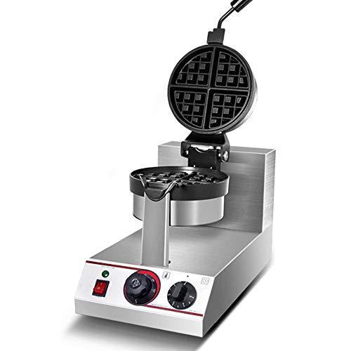 Elektrische wafelijzer, Professional wafelijzer Koks, Easy Clean en verstelbare Temperature Control (50~250 °), roestvrij staal, gelijkmatige verwarming, goed product te maken Wafels
