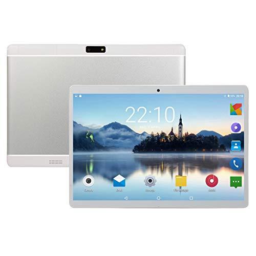 LTLJX Android Tablet PC, 10.1-Zoll, WLAN, Quad Core-Prozessor, Android, 2 GB RAM + 32 ROM, 1920 * 1280 IPS-HD-Bildschirm, Bluetooth, GPS, 4000-mAh-Akku,Weiß