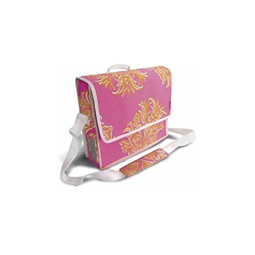 Basil Blossom postmenbag 12 liter om op te hangen aan de bagagedrager schoudersnel roze 17178