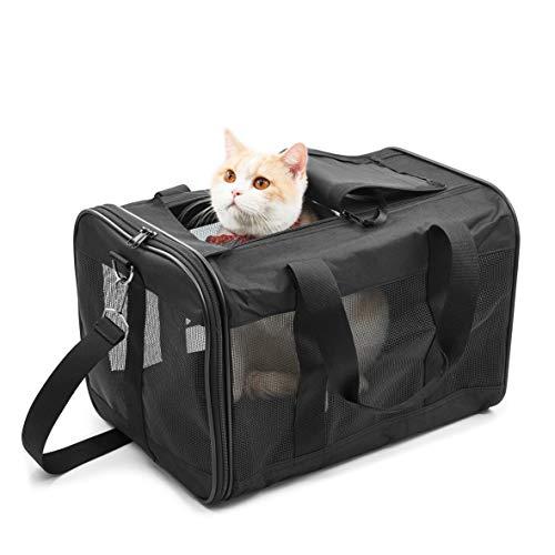 HITSLAM Hitchy Transporttasche Transportbox Katzex Hundebox für Katzen, Kleine Hunde, Kätzchen oder Welpen, Airline zugelassen, Reisefreundliche (M)