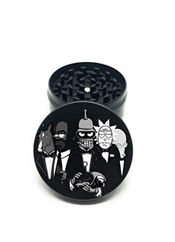 Royale Grinder Rick y Morty Family - Molinillo de especias con recogedor de Pollen Grinder Zinc modelo Rick Sanchez y Bender Family edición limitada