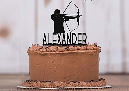 Archery Cake Topper with Keepsake Base, Birthday Cake Topper, Personalized Topper, Birthday Party, Archery, Bow & Arrow, Bow Hunting, Arrow, Keepsake