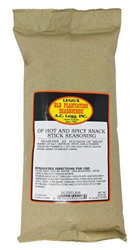 A.C. Legg's - OP Hot & Spicy Snack Stick Seasoning for 25 Pounds, 18.5 Ounce - with Cure