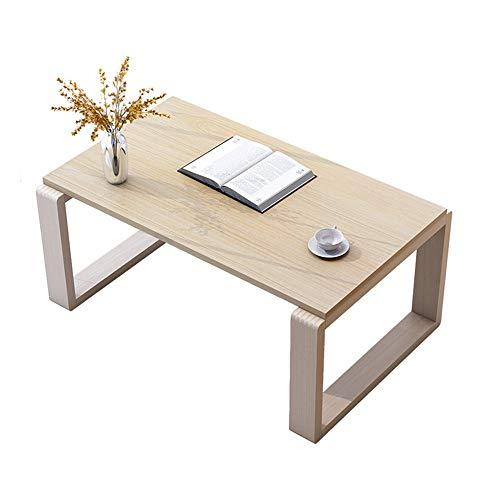 Mesas auxiliares de Las mesas de Centro Mesa Rectangular de café Tatami Mesa de cóctel sólido de té de Madera Sofá Mesa Lateral Muebles de decoración del hogar (Color : Wood, Size : 80x44x40cm)