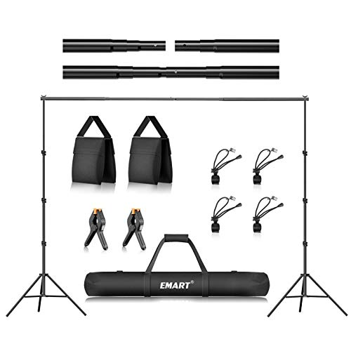 Emart 8.5 x 10 ft Photo Backdrop Stand , Adjustable Photography Muslin Background Support System Stand for Photo Video Studio