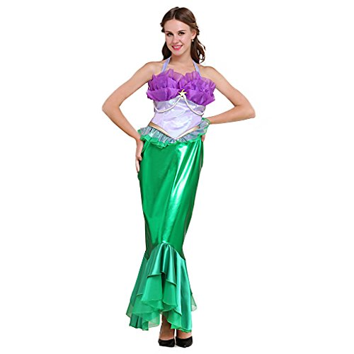 Fortunehouse Vestido de fiesta de princesa para mujer, disfraz de sirena