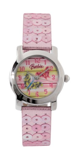Barbie Mädchen-Armbanduhr Analog Quarz Plastik B583