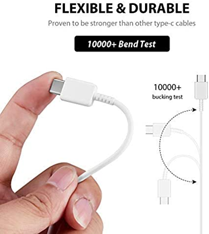 Black Authentic Short 8inch USB Type-C Cable for BLU Pure XR Also Fast Quick Charges Plus Data Transfer!