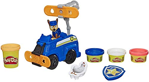 Play-Doh Paw Patrol Rescue Rolling Chase Toy Police Cruiser Figure & Vehicle Set with 4 Non-Toxic Colors