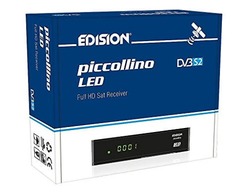 Edision piccollino LED Full HD Sat Receiver (DVB-S2, HDTV, HDMI, SCART, 2x USB 2.0, LAN, Kartenleser)