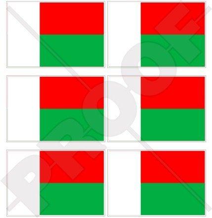 MADAGASCAR vlag, Malagasy Republiek 40mm (1,6