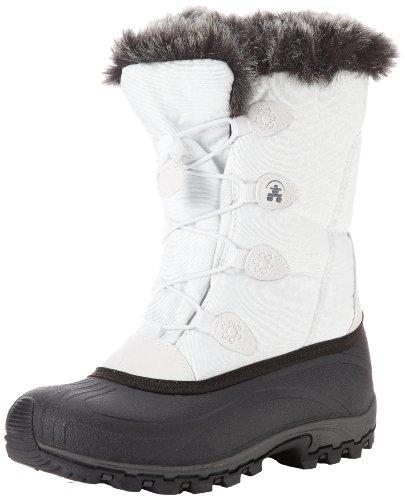 Kamik Women's Momentum Snow Boot, White, 8.5 M