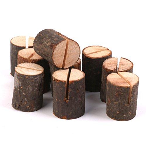 Pixnor Mariage en bois détenteurs de carte nom Place maison Decor Pack de 10