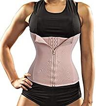 New Waist Trainer Seamless Belt Hourglass Zipper Corset for Women Weight Loss hot Body Shaper Modeling Strap Slimming Shapewear(Beige 2XL)
