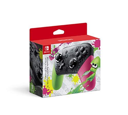 【任天堂純正品】Nintendo Switch Proコントローラー スプラトゥーン2エディション (【Amazon.co.jp限定】Proコントローラー用スティックパッド 同梱)