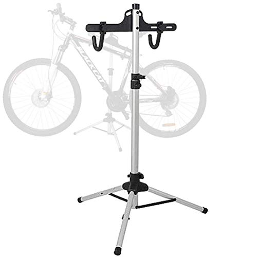 CCZMD Bicycle Triangle Park Vertical Filing Repair Stand Display Rack Retractable Triangular Mountain Bike Trailer Porter Height Adjustable 70-130Cm,Black
