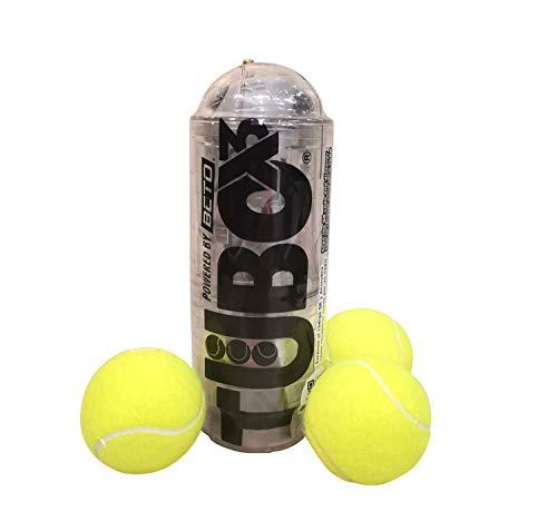 TuboPlus - TuboX3 Crystal + Bomba con Manometro BETO - Presurizador de Pelotas de Tenis y Padel