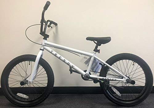 "Modern Trendy 20"" BMX Bicycle Freestyle Bike 1 Piece Crank White"