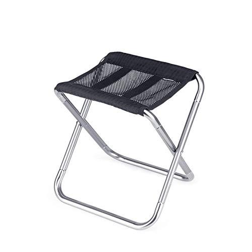 PQXOER Sillas plegables plegable taburete de camping ligero silla de pesca asiento de playa con bolsa de almacenamiento carga máxima 100 kg taburete plegable portátil