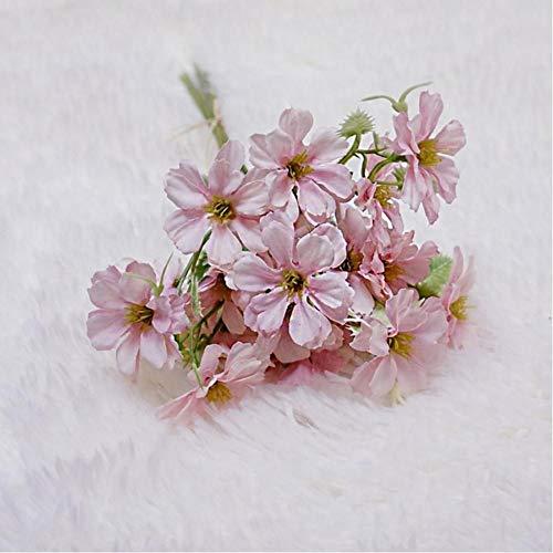 WSXOKN Künstliche Gefälschte Blumen Gänseblümchen Seide Gefälschte Blumen Cerastium Tomentosums Faux Bouquet Home Party Dekorative Billige Blumenstrauß Rosa